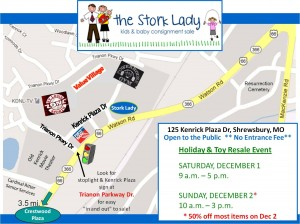 Stork Lady Consignment Sale Map