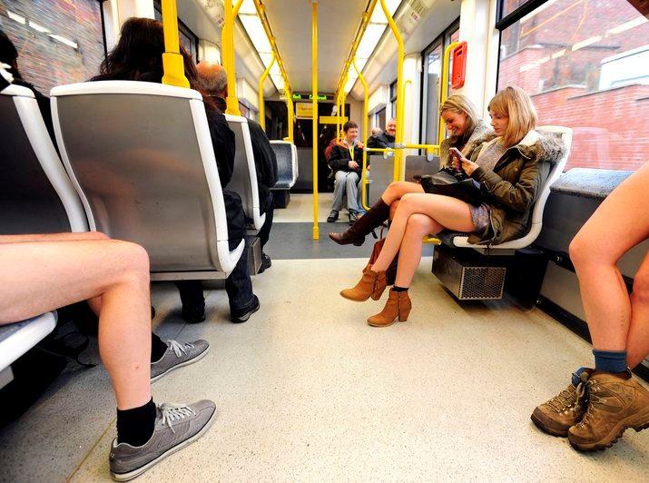 No Pants Metrolink Ride STL