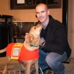 Barret Jackman and dog