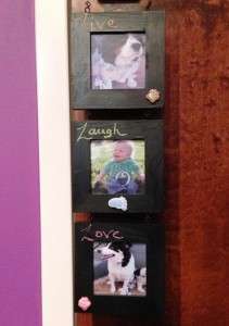 Mom Chalkboard Picture Frame