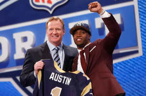 Tavon Austion at the NFL Draft. Photo credit to Sports Illustrated