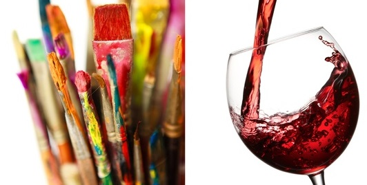 Art and wine parties in st louis for Paint vino