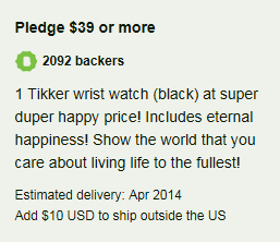 $39 Tikker Pledge