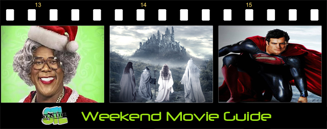 The Hobbit: The Desolation of Smaug premieres and Madea is back. Plus, Man of Steel is available to watch at home. It's The Weekend Movie Guide for December 12, 2013