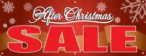 The after-Christmas shop 'til you drop again!