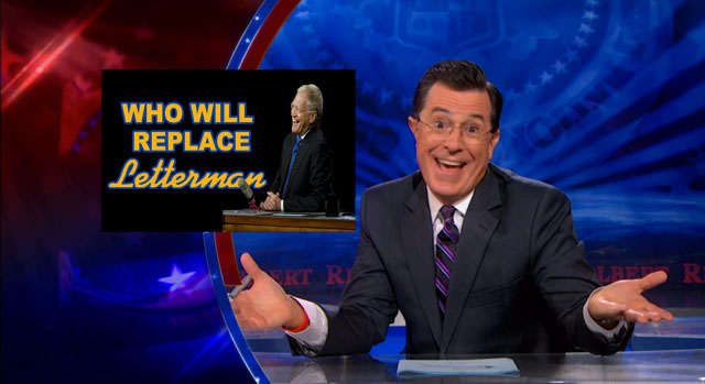 Stephen Colbert Taking Over For Letterman On 'Late Show'