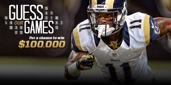 Win $100,000 from the St. Louis Rams