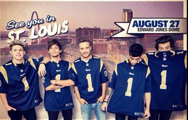 One Direction in St. Louis on August 27 at the Edward Jones Dome