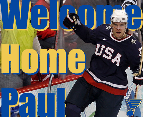 St. Louis Blues Sign Paul Stastny