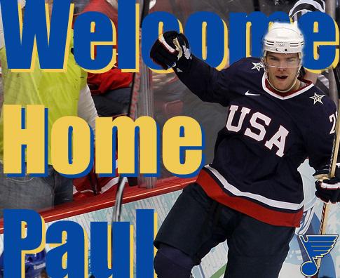 St. Louis Blues Sign Paul Stastny