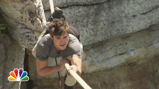 Zac Efron tonight on 'Running Wild with Bear Grylls'