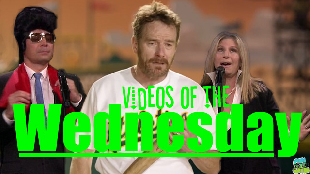 Videos of the Wednesday featuring Bryan Cranston, Barbra Streisand, Jimmy Fallon, Darren Jackson