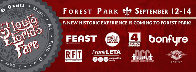 St. Louis World's Fare. September 12-14 in Forest park