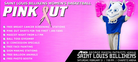 "Saint Louis University Billikens Hosting ""Pink Out"" Game This Saturday"