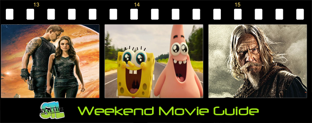 The SpongeBob Movie: Sponge Out of Water, Jupiter Ascending and Seventh Son open this weekend.
