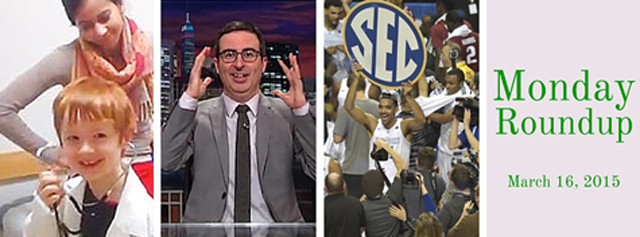 """2015 March Madness field announced, Children's Hospital's """"Shake It Off"""", John Oliver on March Madness and the NCAA, Cinderella bring in $70 million"""