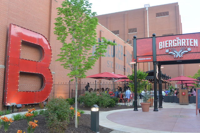 The Biergarten at the Anheuser-Busch Brewery in St. Louis, Missouri
