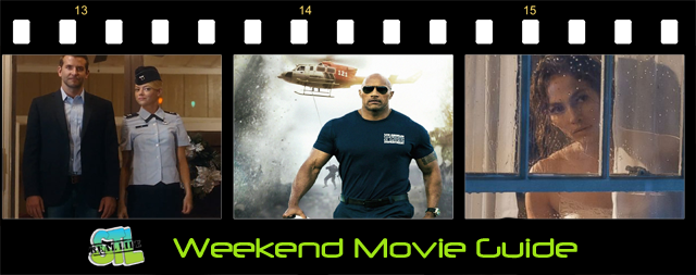 San Andreas and Aloha open in movie theaters this weekend.