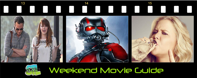 Ant-Man, Tranwreck and Irrational Man open in movie theaters this weekend. Also, see what's playing at Keller 8 and available to rent at your local Redbox