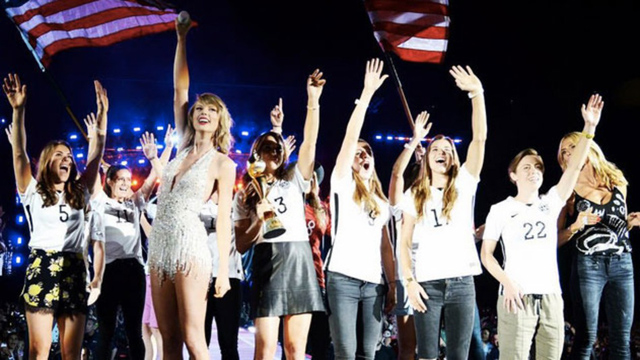 Taylor Swift and the U.S. Women's National Team (USWNT)