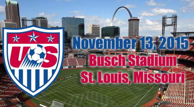 The U.S. Men's National Team will play a 2018 World Cup qualifier at Busch Stadium in St. Louis in November.