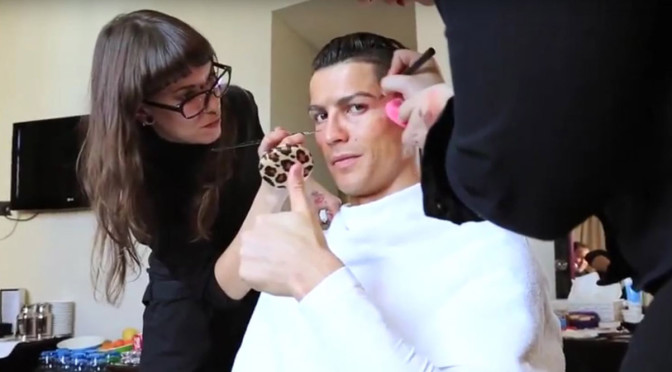 Cristiano Ronaldo in disguise in Madrid, Spain