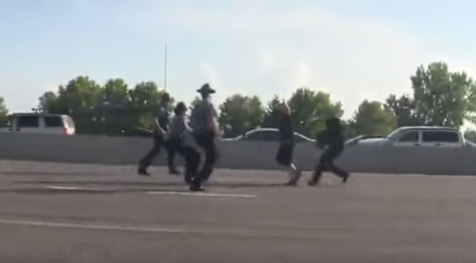 Ferguson I-70 Protester Gets Body Slammed