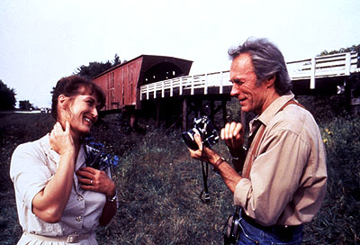 THE BRIDGES OF MADISON COUNTY -- NBC Theatrical -- Pictured: (l-r) Meryl Streep as Francesca Johnson, Clint Eastwood as Robert Kincaid -- Photo: Warner Bros.