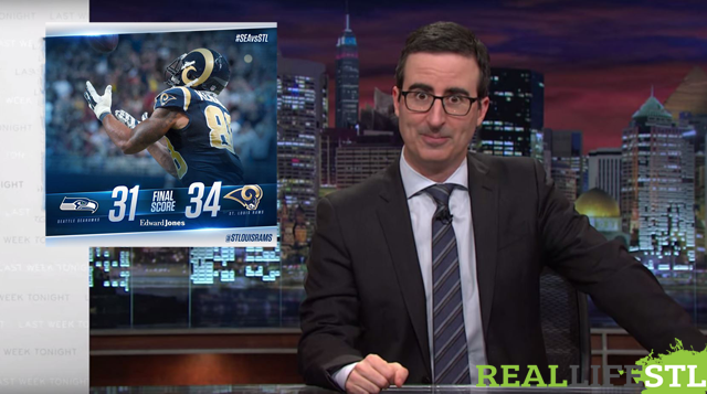 John Oliver on the St. Louis Rams beating the Seattle Seahawks. Created by RealLifeSTL.com