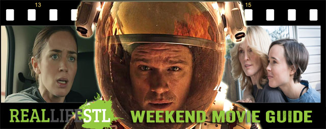 The Martian, Sicario and Freeheld open in movie theaters around St. Louis this weekend.
