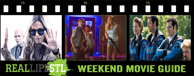 Scouts Guide to the Zombie Apocalypse and Our Brand Is Crisis open in movie theaters around St. Louis this weekend.