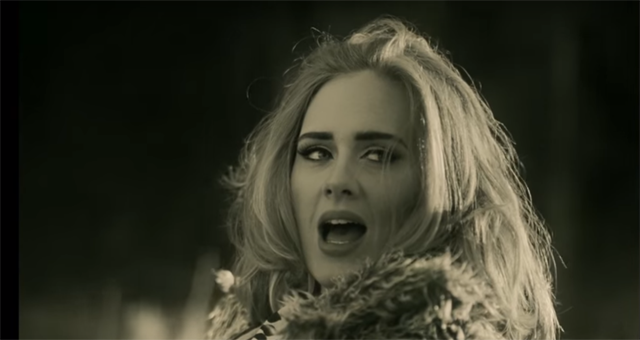 "Adele's ""Hello"" from her album 25"