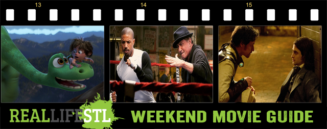 Thanksgiving Movie Guide featuring Creed, The Good Dinosaur and Victor Frankenstein opening around St. Louis this weekend.
