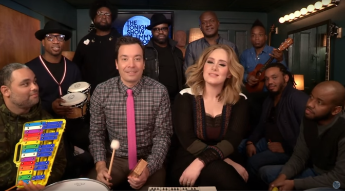 "Adele Sings ""Hello"" With Jimmy Fallon"