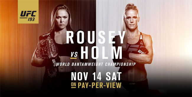 Where to watch Ronda Rousey vs Holly Holm in St. Louis