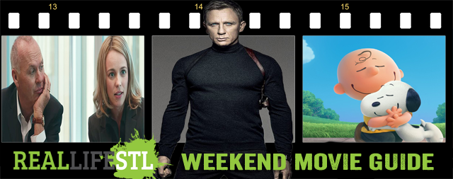 Spectre, The Peanuts Movie and Spotlight open in movie theaters around St. Louis this weekend.