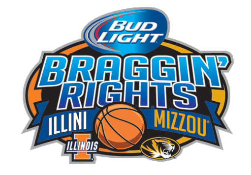 Bud Light Braggin' Rights basketball game between Missouri and Illinois in St. Louis.