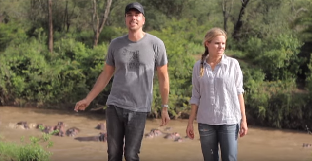 Dax Shepard and Kristen Bell filmed a music video when they traveled to Africa.