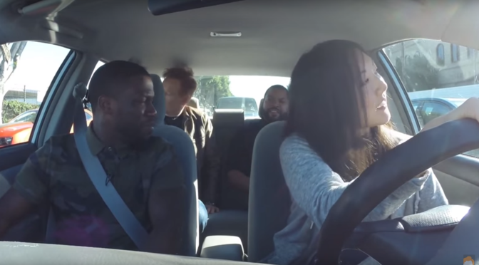 Kevin hart and Ice Cube join Conan to help a student driver
