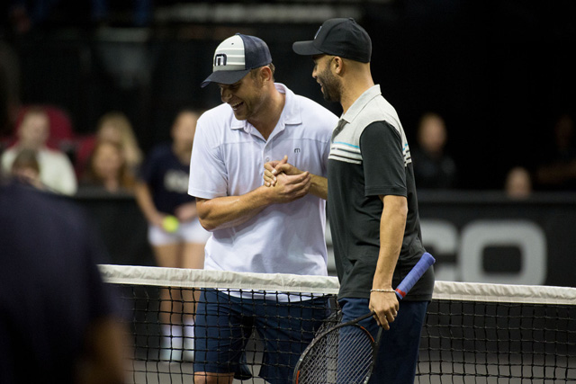 Andy Roddick and James Blake PowerShares Series tennis