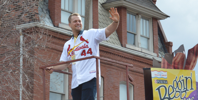 Trevor Rosenthal in the 2016 Beggin' Pet Parade