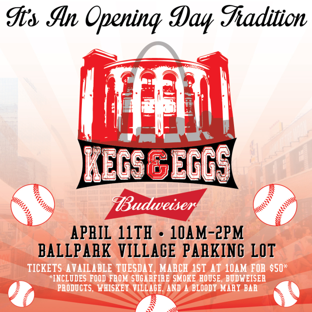 KMOX Kegs and Eggs 2016, Cardinals Home Opener