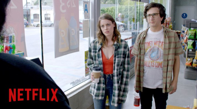 Gillian Jacobs and Paul Rust star in Netflix's Love from Judd Apatow.
