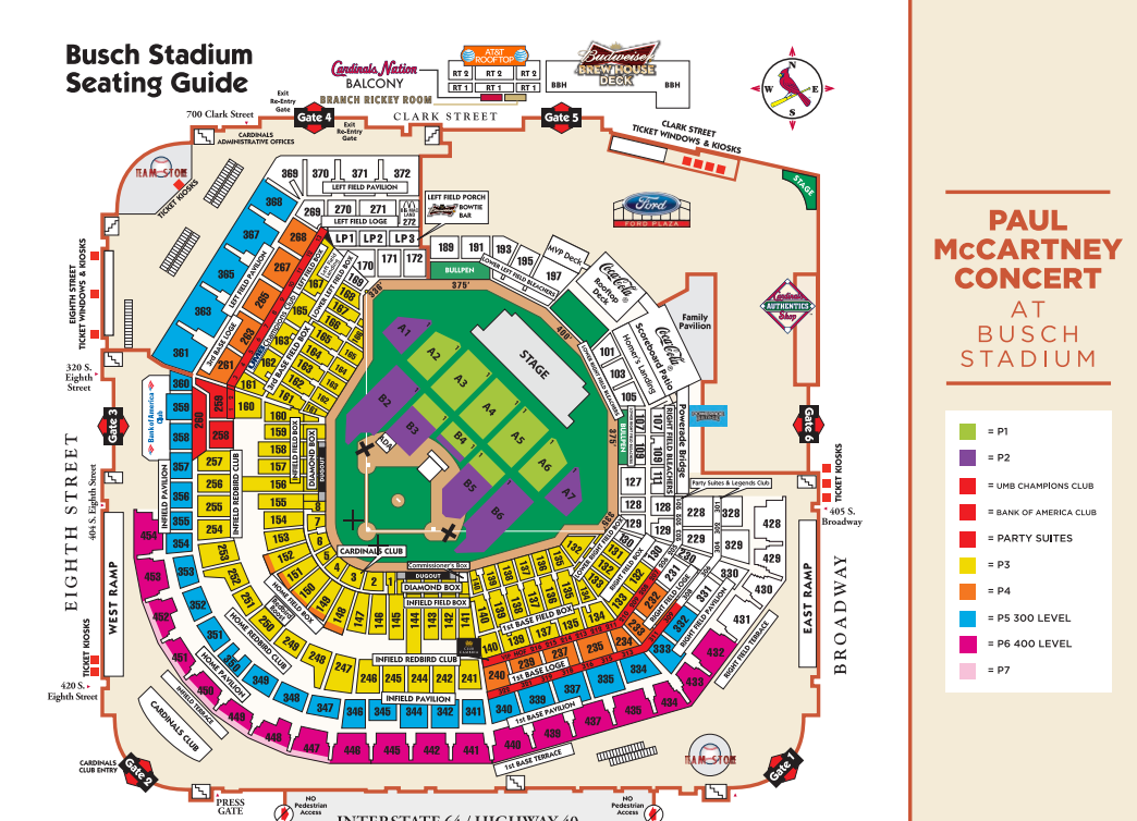 Paul Mccartney Busch Stadium Seating Chart Real Life Stl