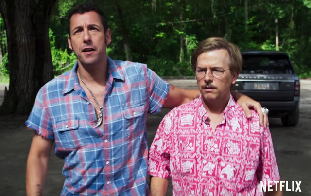 Adam Sandler and David Spade star in 'The Do-Over' on Netflix.