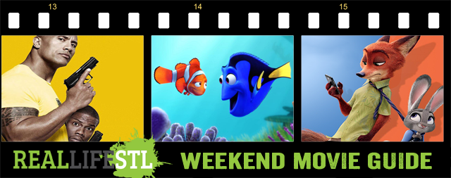 Finding Dory and Central Intelligence open this weekend