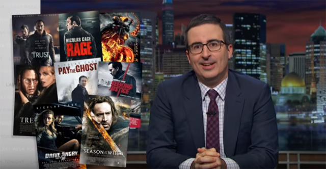 John Oliver talks about Nic Cage before forgiving $15 million in medical debt