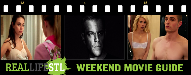 Jason Bourne, Bad Moms and Nerve open in movie theaters around St. Louis this weekend.