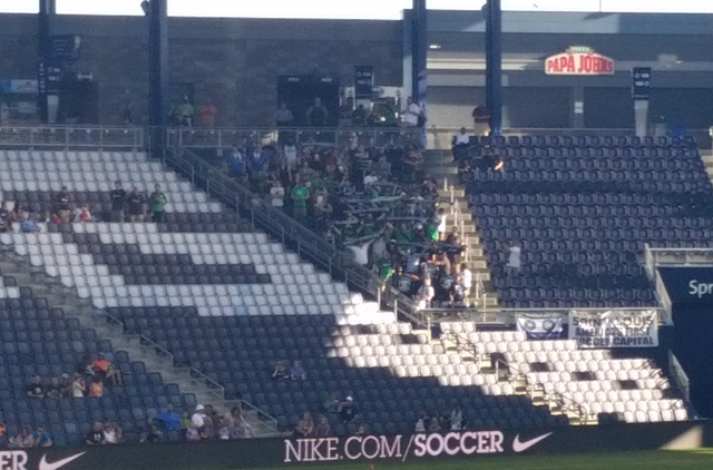 St. Louligans supporting Saint Louis FC in Kansas City