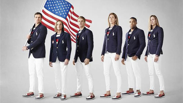 Ralph Lauren designed these uniforms for Team USA athletes to wear during the Olympic Opening Ceremonies in Rio.